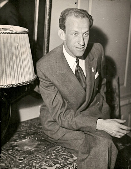 Garson Kanin With Lamp