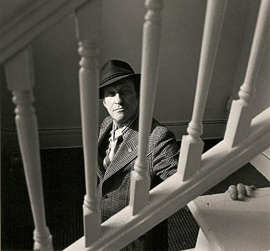 Garson Kanin near Stairs
